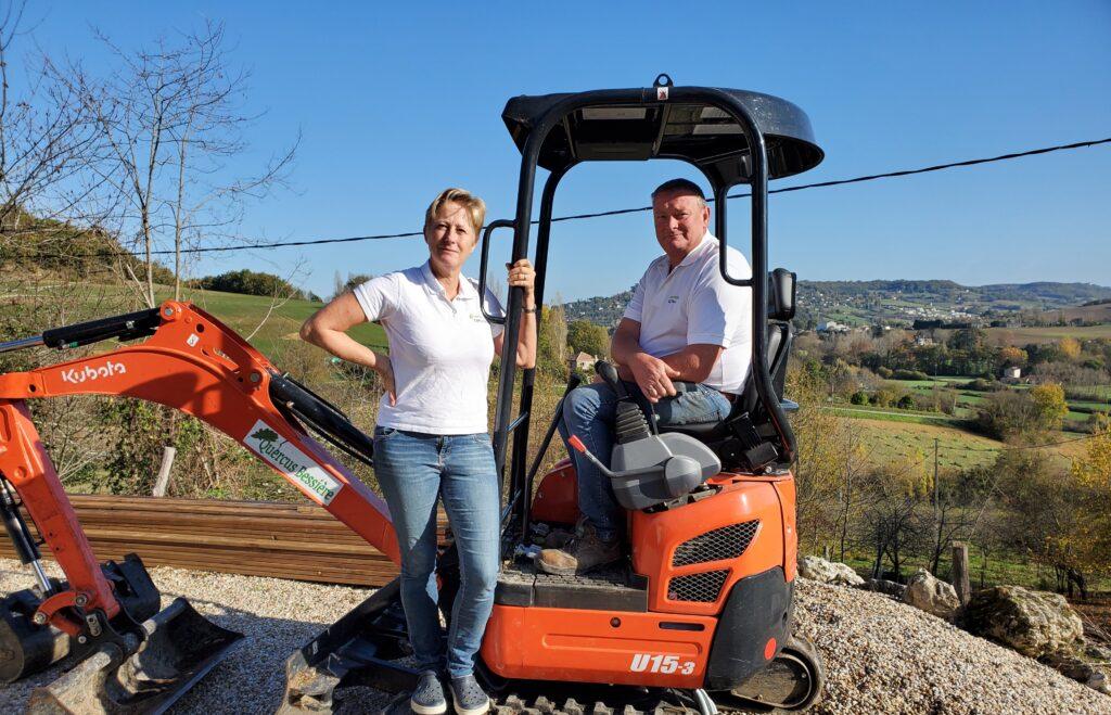 Ludo and Jeanine Krouwel excavator